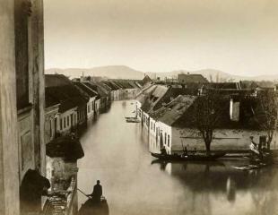 Beszédes Sándor Esztergom 1876-os árvíz, Duna utca