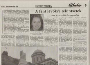 Tétényi Éva az Új Ember katolikus hetilapban