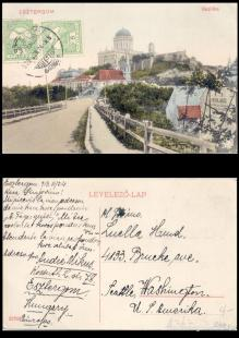98 év után tökéletes állapotban és sértetlenül tért vissza Esztergomba a képeslap.