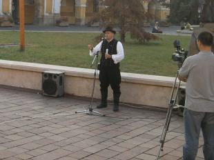 2011-09-21 Érpatak polgármestere a Széchenyi téren