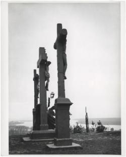 Az esztergomi kálvária a Szent Tamás hegyen (Golgotha). Esztergom, 1917. március 28.