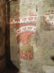 2012-06-16 A Várkápolna oroszlános freskója a Múzeumok Éjszakáján