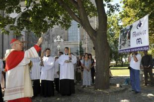 2012-08-15 Erdő Péter megáldja a Mária-zarándokutat