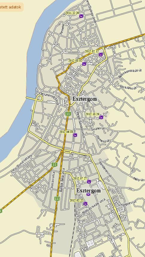 esztergom kertváros térkép Esztergom bűnügyi térképe: Szentgyörgymező a béke szigete esztergom kertváros térkép
