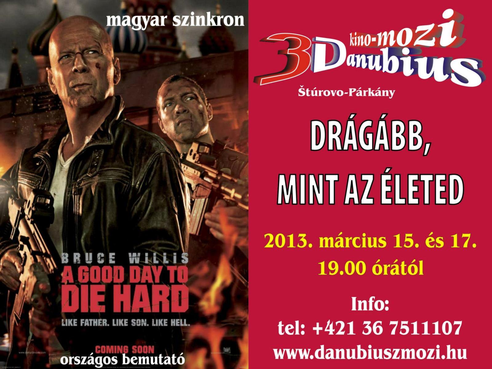 A párkányi Danubius Mozi márciusi műsora