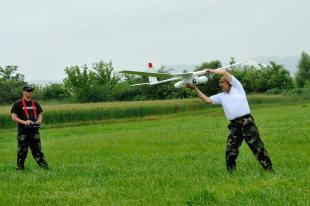 Robotrepülőgép Esztergom határában (MTI)