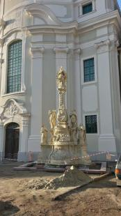 Új helyén a Pestis Madonna (Fotó: Bejó)