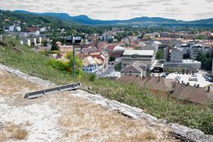 Kidőlt a Szent Tamás-hegyre telepített védőkötél két oszlopa is.