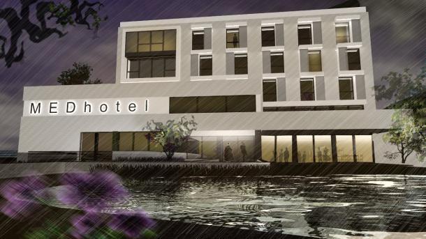 Jól halad a Medihotel Esztergom építkezése