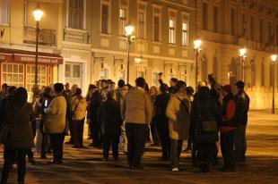 2014-10-28 Internetadó elleni tüntetés Esztergomban