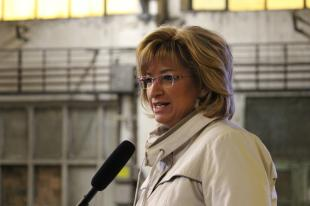 Romanek Etelka, az első polgármester aki az elmúlt 14 évben esztergomi repülős eseményen részt vett