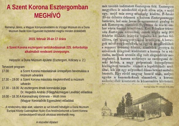A Szent Korona Esztergomban