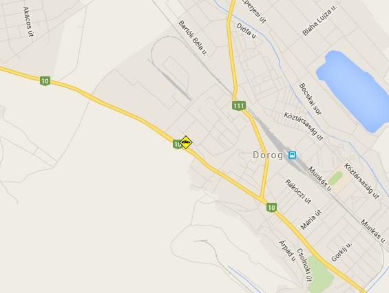Baleset Dorogon: gépkocsi és kisteherautó ütközött, egy sérültet a mentők vittek el