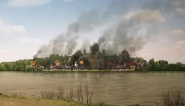 Romantikus török sorozatban Esztergom – Ágyúkkal lövik a bazilikát