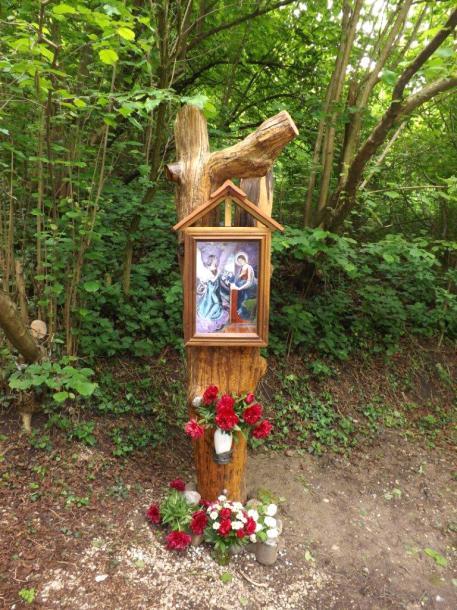 Új Mária kép a Csurgó-kútnál