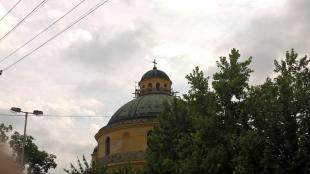 Folytatódik a Kerek templom felújítása. 2016-06-27
