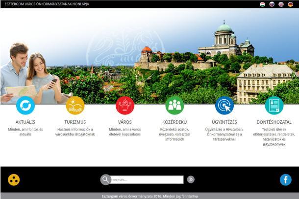 Esztergom város megújult honlapja - 2016. augusztus