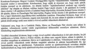 a41992bf59 Választási csalás miatt tett feljelentést egy választópolgár Esztergomban