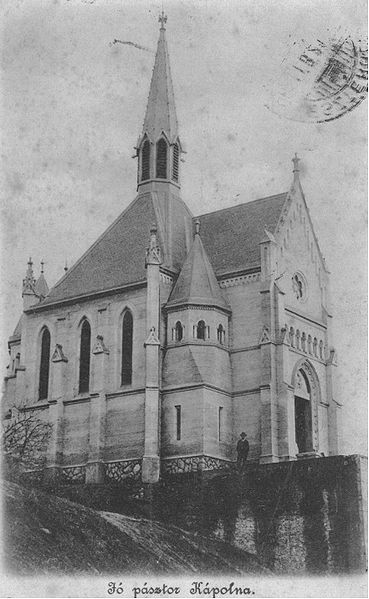 Jó Pásztor kápolna - egy régi képeslapon