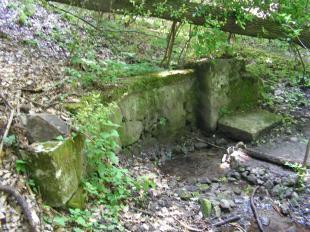 A Hideg forrás az eredeti helyén 2009. június 7-én